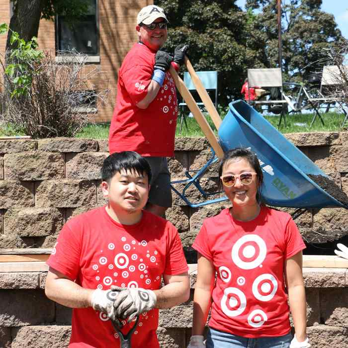 Center for Social Healing project with three Target volunteers