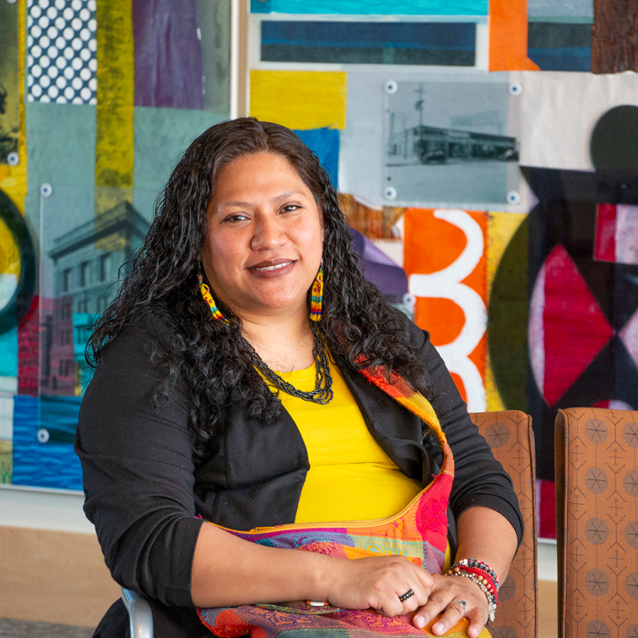 Monica Vega, Latino Leadership Program Alumna at the Amherst H. Wilder Foundation Annual Report 2019