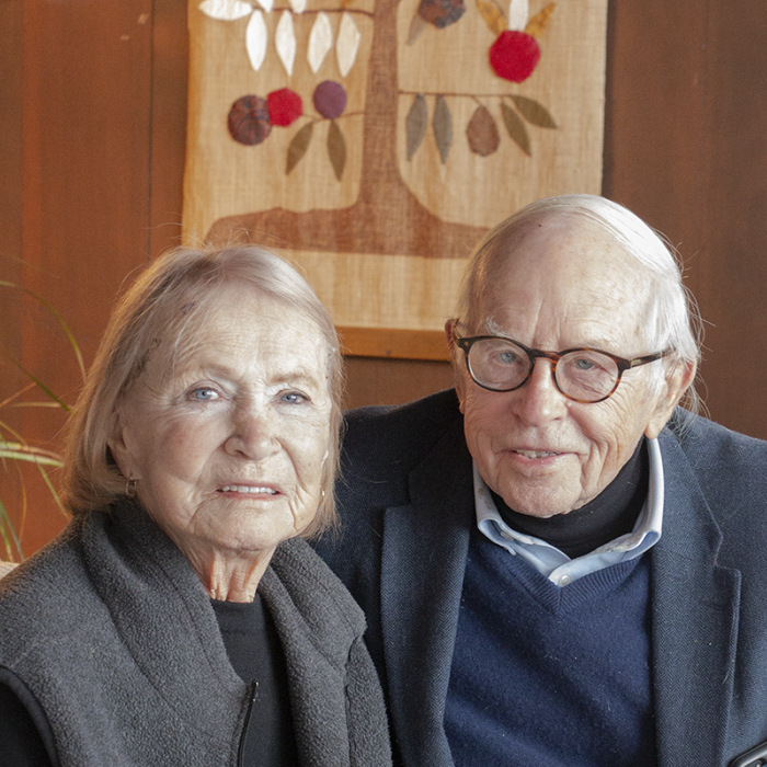 Wilder donors Nina and Ken Rothchild at home