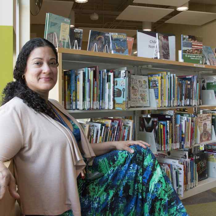 Ruby Rivera, a Wilder social worker in the Saint Paul Public Library system