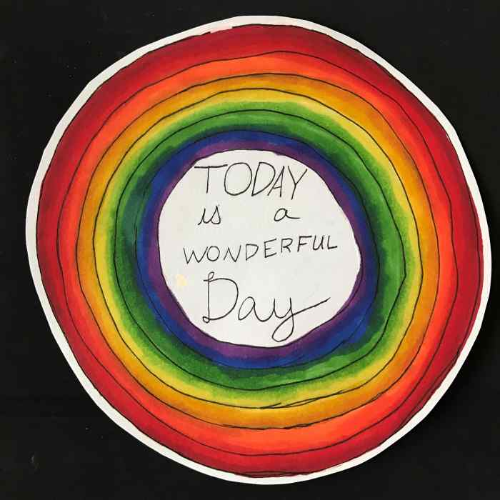 """Today is a wonderful day"" by Maya Forsberg"