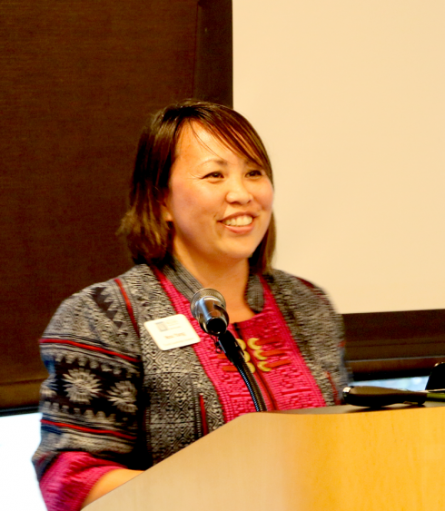 Senior Director of Wilder Community Leadership Programs Nou Yang speaks at Wilder Center for a fundraising event for Hmong youth