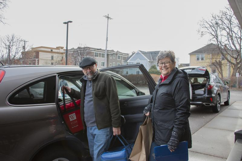 Meals on Wheels volunteers Tim and Linda