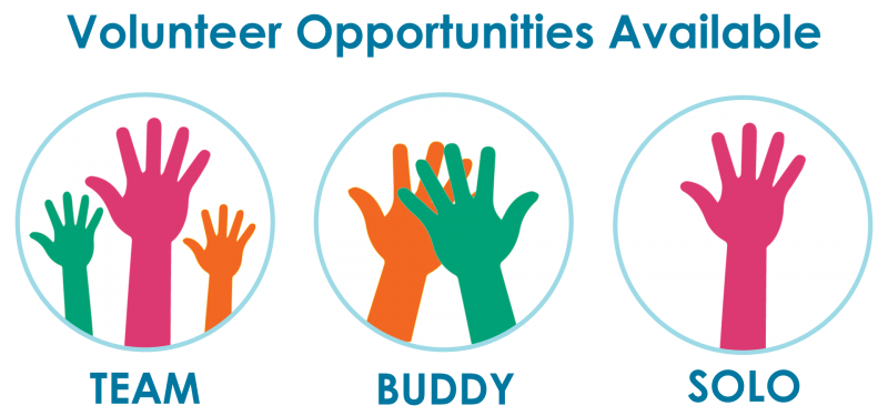 Volunteer Opportunities available at Wilder Foundation as a team, with a buddy or solo