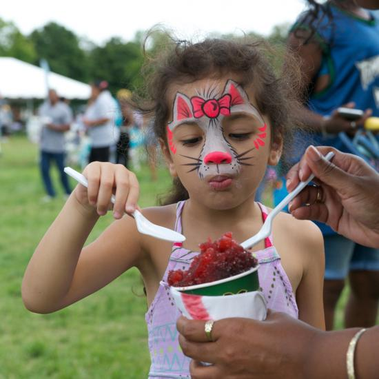 Face painting at 2017 Wilder Block Party