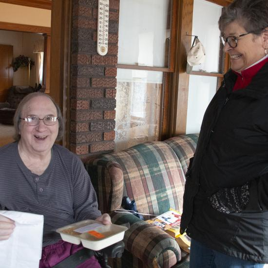 Wilder Meals on Wheels volunteers like Linda provide a nutritious meal and a smile