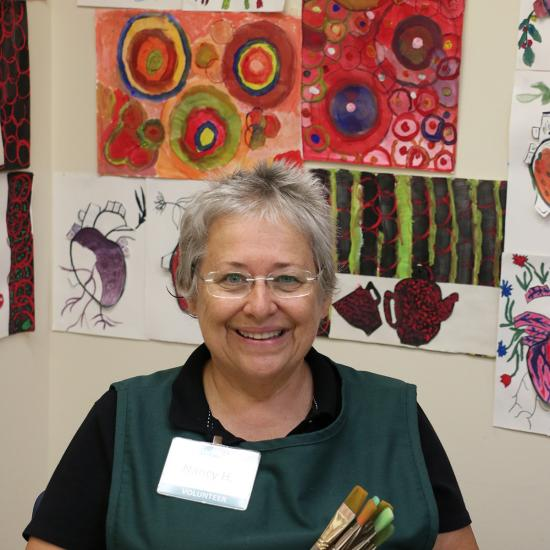 Nancy Heck, a volunteer at the Wilder Community Center for Aging