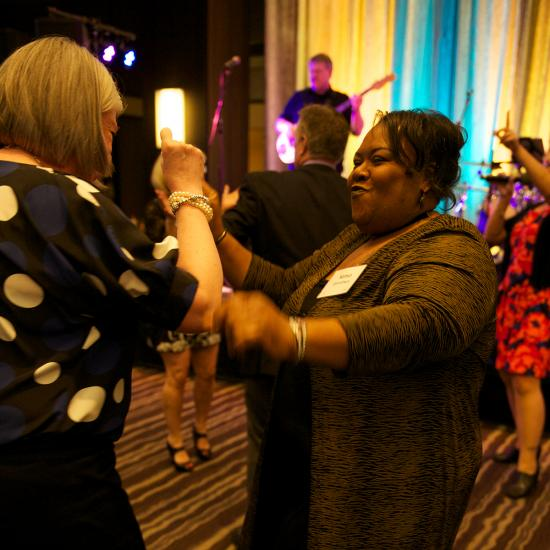 Attendees dancing at Wilder's Ordinary Magic gala in Saint Paul