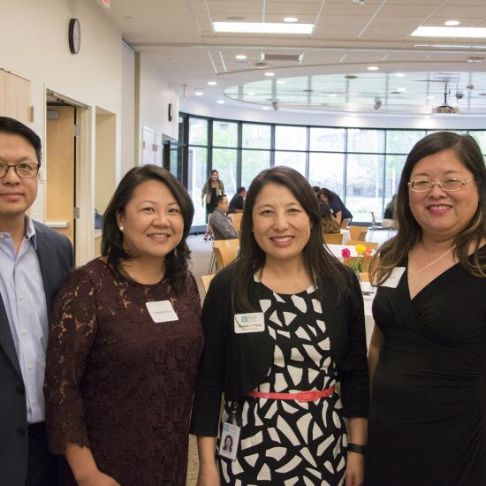 Patrick Vue, ThaoMee Xiong, MayKao Y. Hang and Kao Ly Ilean Her at the May 2017 Hmong Professionals Fundraiser at Wilder.