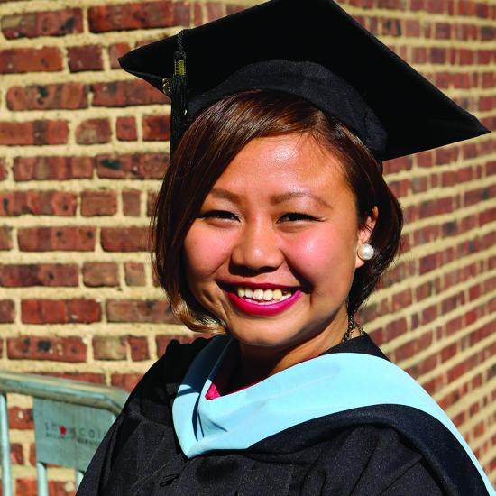 Asian American graduate, Hmong American female smiling, Youth Leadership Initiative alumna