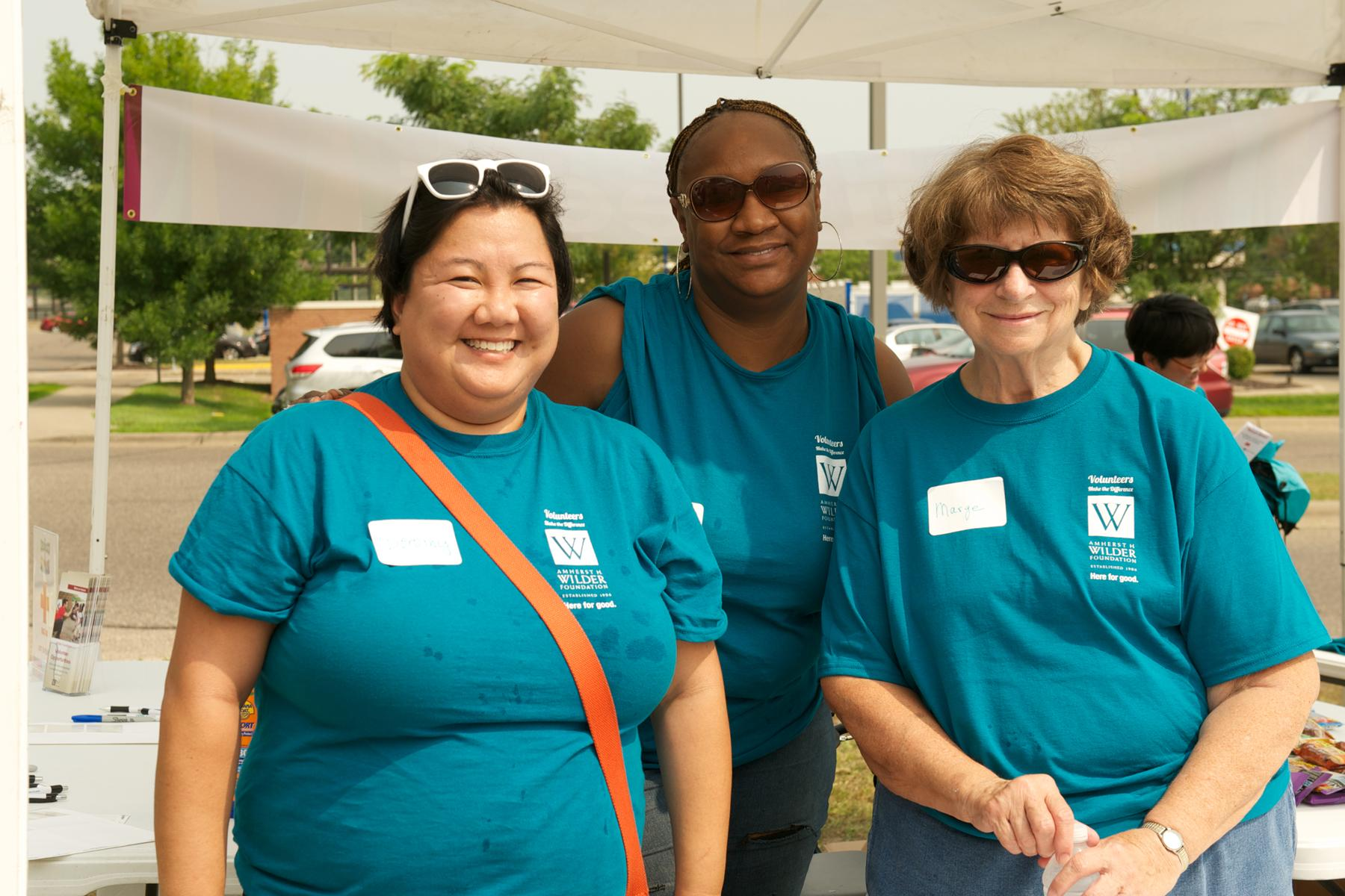 Wilder Block party volunteers in Saint Paul, MN