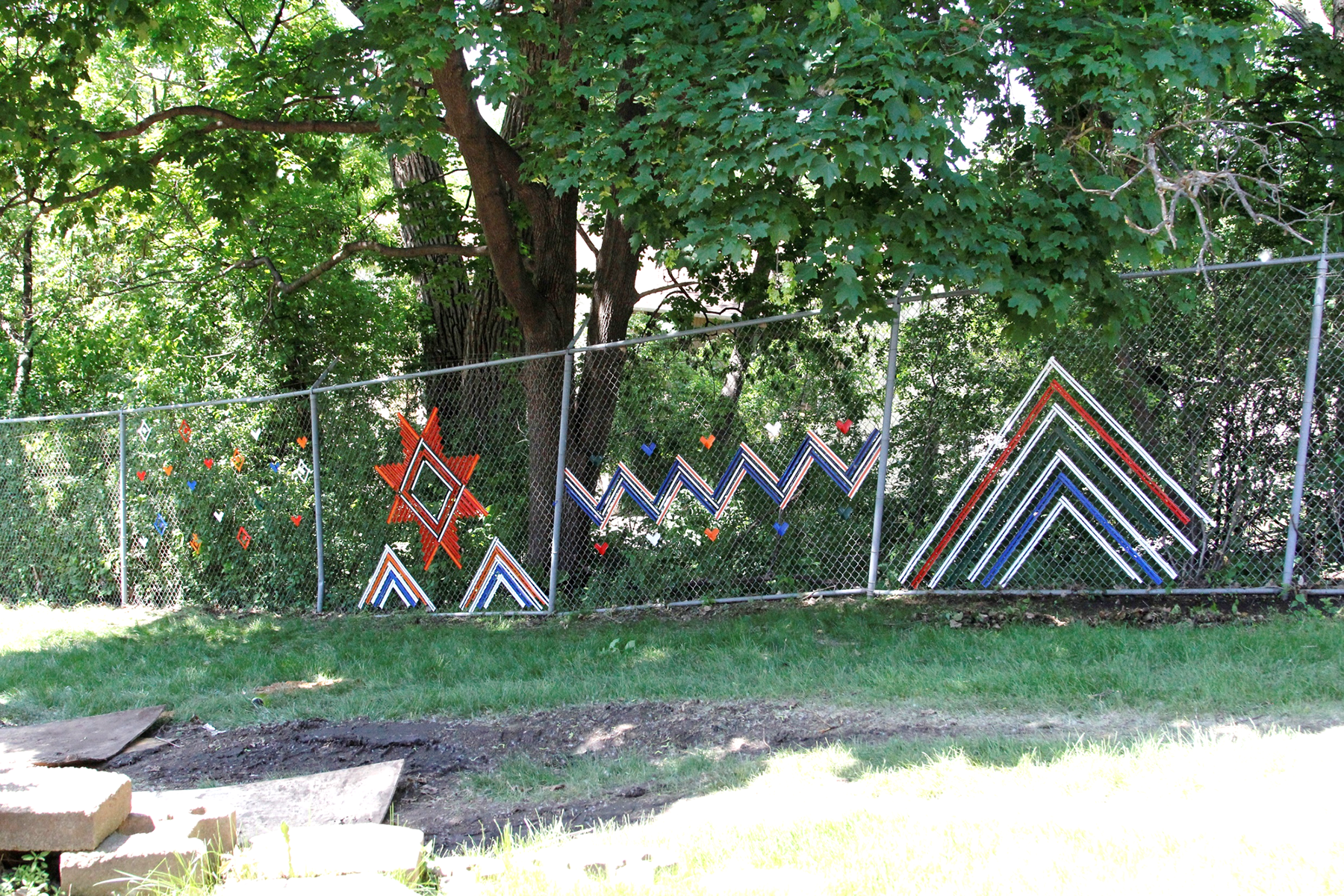 Completed fence weaving at Wilder Center for Social Healing