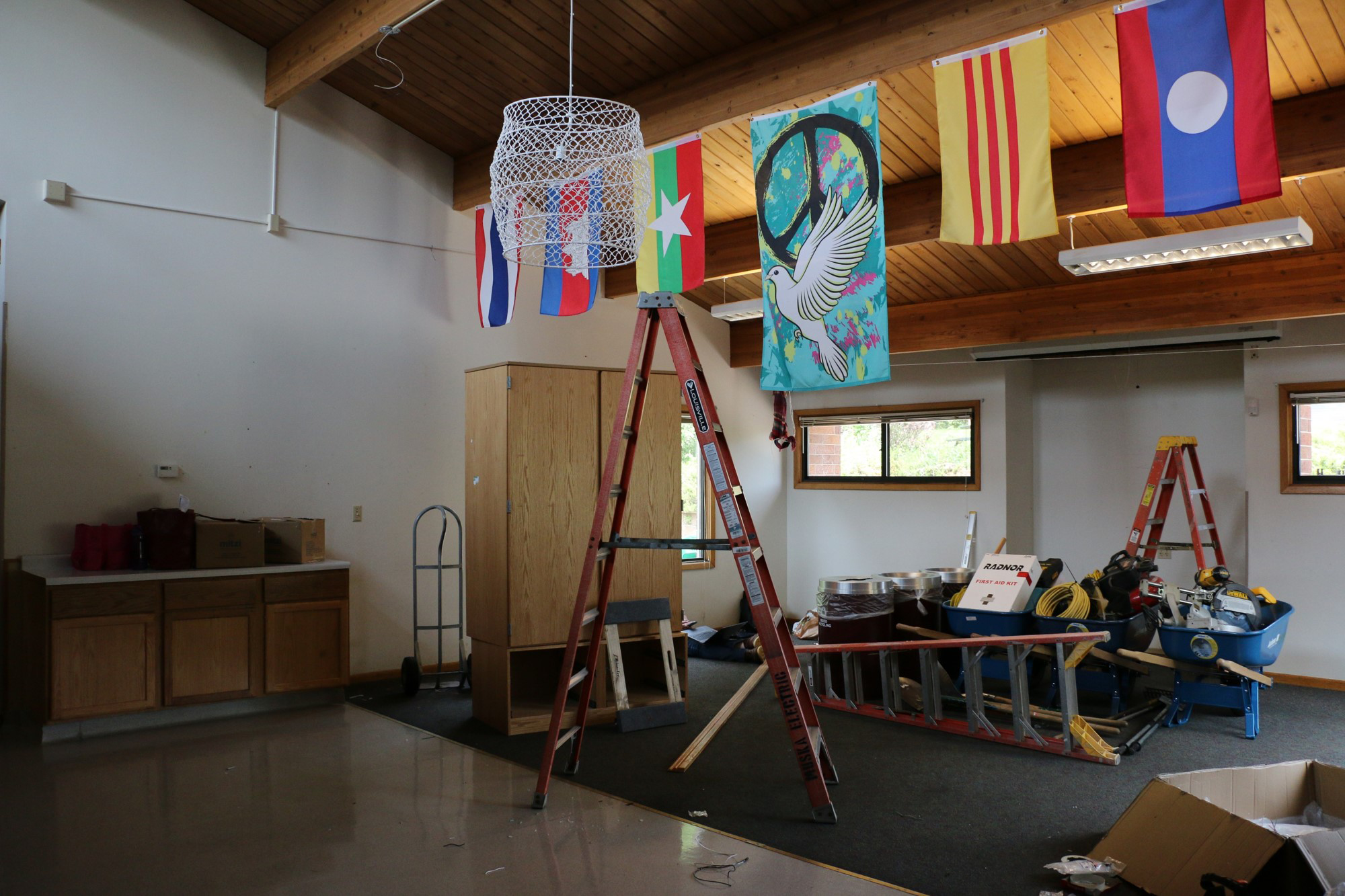View inside the Center for Social Healing as workers began a remodel of the building