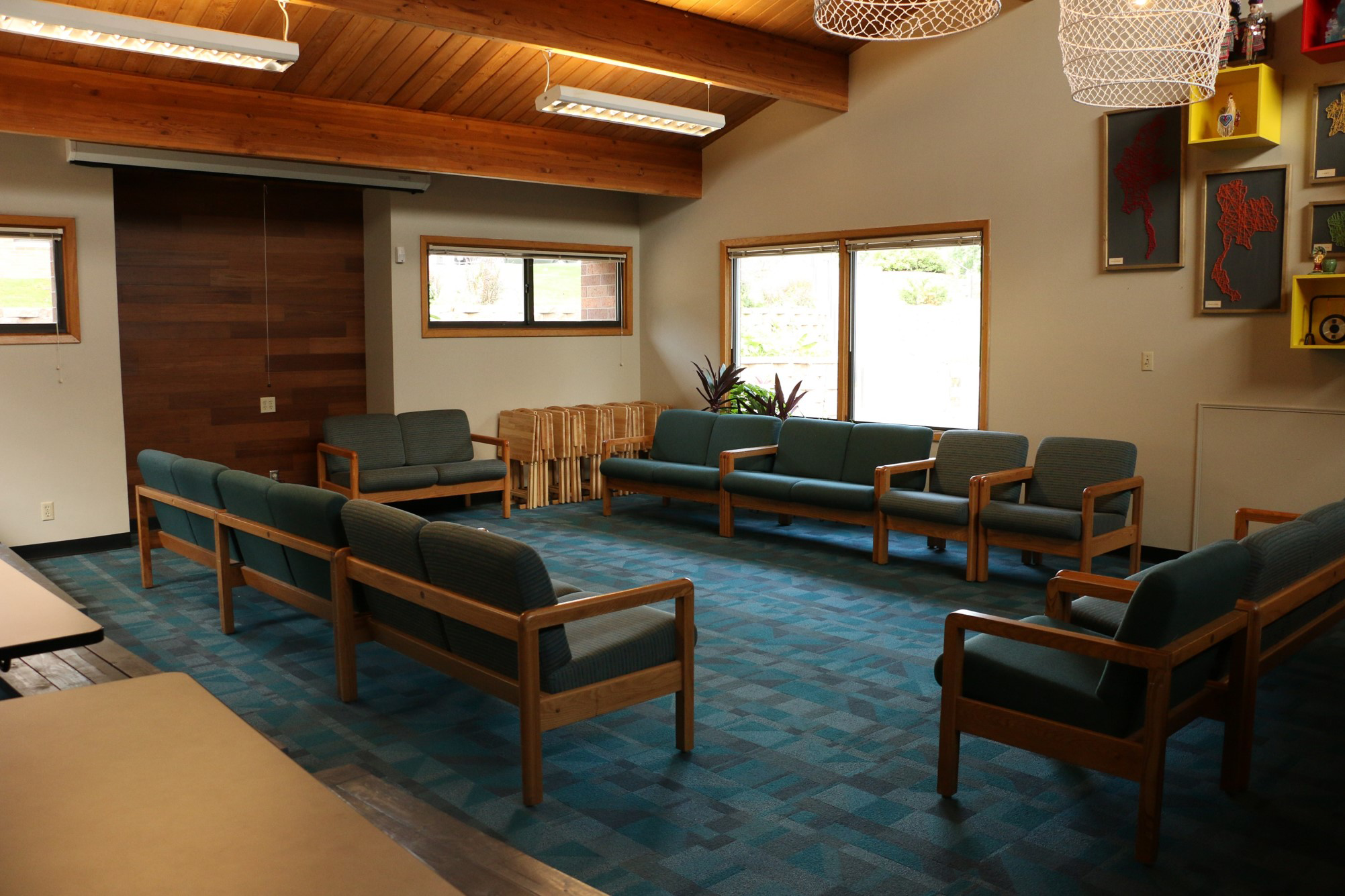 Transformed gathering space at Wilder Center for Social Healing