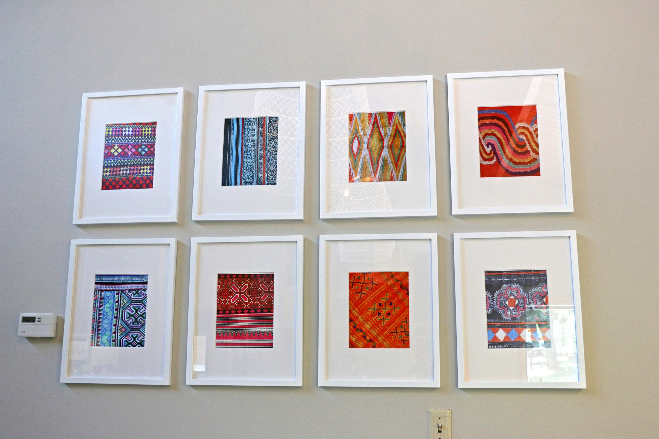 Eight pictures of textiles at Wilder Center for Social Healing