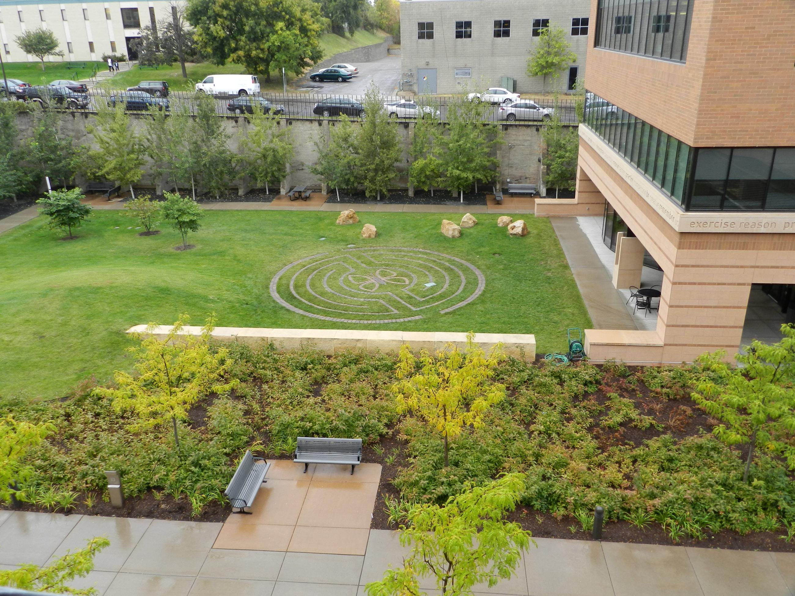 Wilder Center Backyard Labyrinth