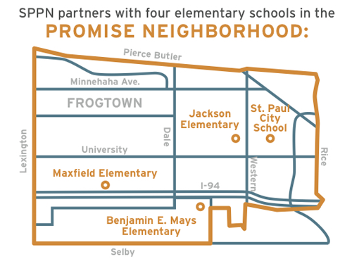 Saint Paul Promise Neighborhood map
