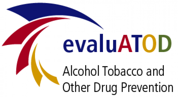 evaluATOD logo, Alcohol tobacco and other drug prevention