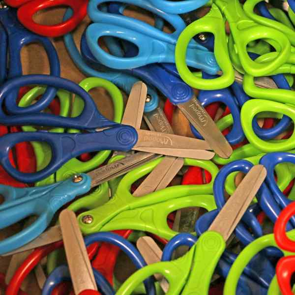 Scissors collected at Wilder's annual school supply drive.